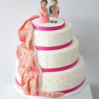 Indian wedding  - Cake by Kayleigh's cake boutique
