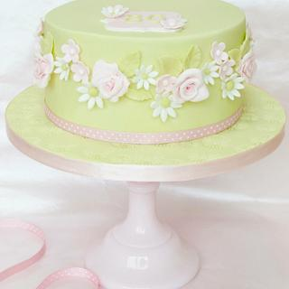 Pretty pinks and apple green