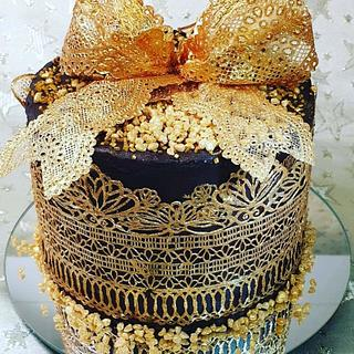Gold chocolate cake