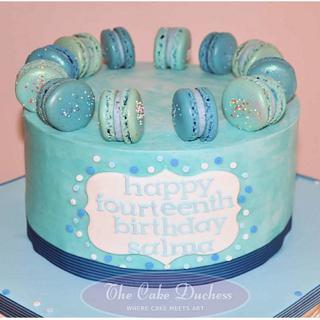 Shades of Blue - Cake by Sumaiya Omar - The Cake Duchess
