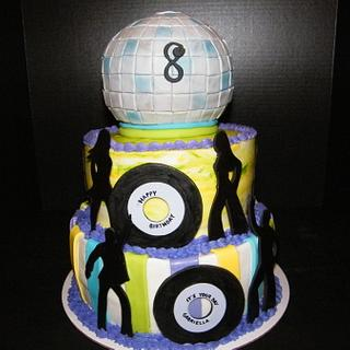 Disco/Dance Party Cake - Cake by Judy Remaly