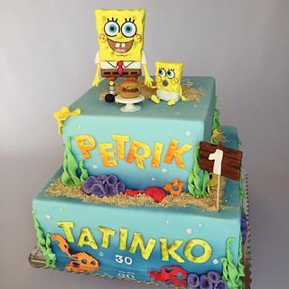 Sponge bob & Sponge bob jr. - Cake by Layla A