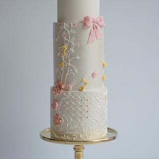 Wedding Cakes Inspired By Fashion A Worldwide Collaboration  - Cake by Van Goh Cakes
