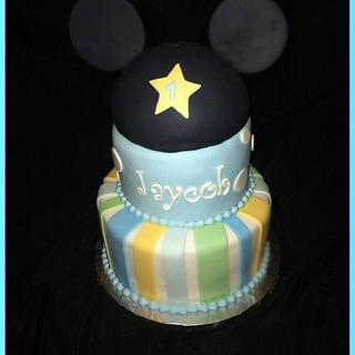 1st birthday Mickey Mouse Pastels Cake