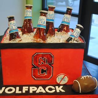 Cooler Groom's Cake