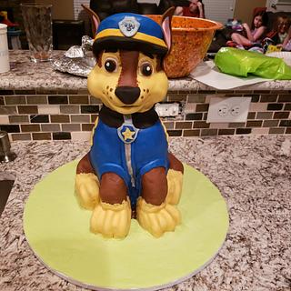 Chase Paw Patrol  - Cake by TheUnicornHorn