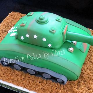 Tank Cake - Cake by Creative Cakes by Chris