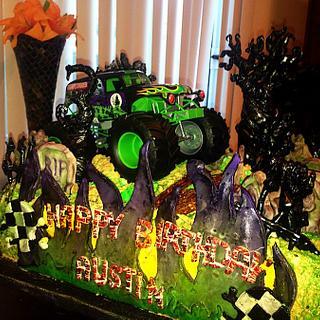 Grave Digger Monster Truck Birthday Cake