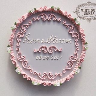 Vintage Wedding keepsake - Cake by Vintique Cakes (Anita)