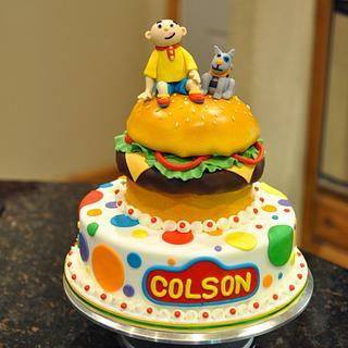 Caillou on Cheeseburger