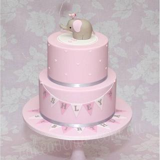 Baby Elephant Cake in Pink