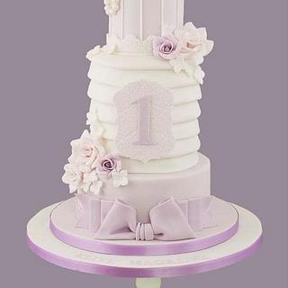 Lilac Pleated Birdcage Cake - Cake by Little Cherry