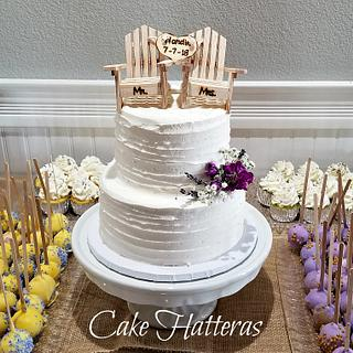 A small wedding cake and dessert bar for a dear friend
