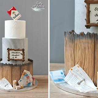 Sports betting & Cigarettes & Money - Cake by Lorna