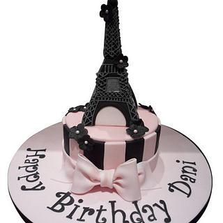 Eiffel Tower Themed Cake