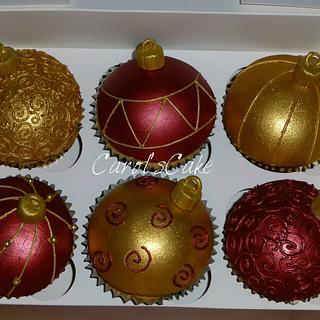 Christmas cupcake Baubles