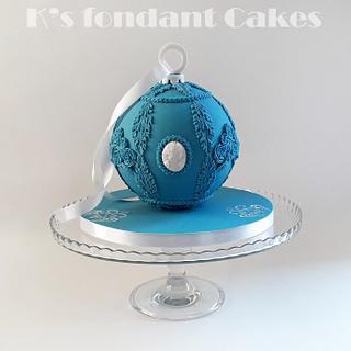 Christmas Wedgwood Ornament Cake
