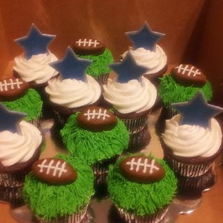 Dallas Cowboys Cupcakes