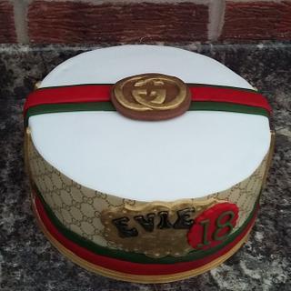 Gucci logo Birthday cake