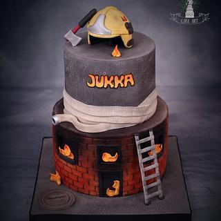 Firefighter cake - Cake by Twister Cake Art
