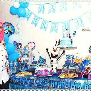 Olaf 3d cake 💖💖