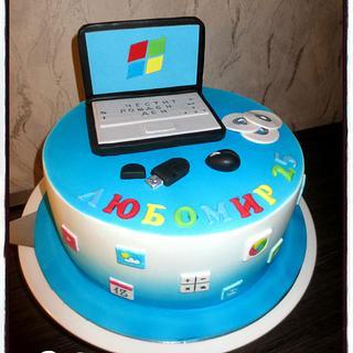 Computer cake - Cake by Kamira
