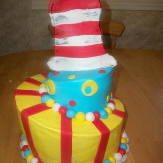 Topsy Turvy Cat in the Hat - Cake by brandy818