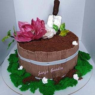 flower pot cake - Cake by Sanja