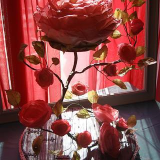 My Vining Rose Cake for Bella