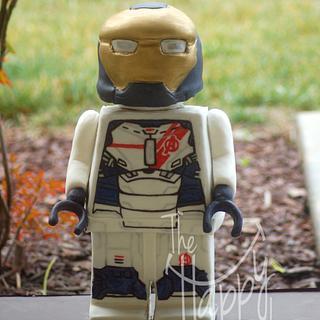 Lego Iron Legion cake