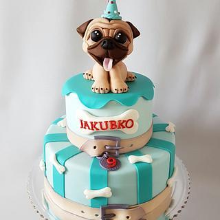 Fine Pug Birthday Cake 4 Cakes Cakesdecor Funny Birthday Cards Online Bapapcheapnameinfo