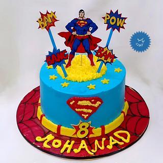 super man cake  - Cake by Babelward