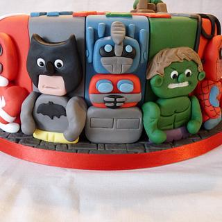 BOYS FAVOURITE CHARACTERS CAKE