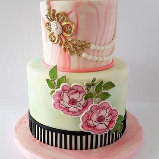 Hand painting cake