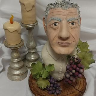 """Chef Anthony Bourdain-""""Gone Too Soon"""" Cake Collaboration - Cake by Magda Zerbe"""