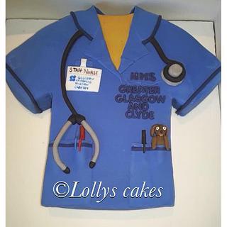 glasgow childrens hospital nurses cake