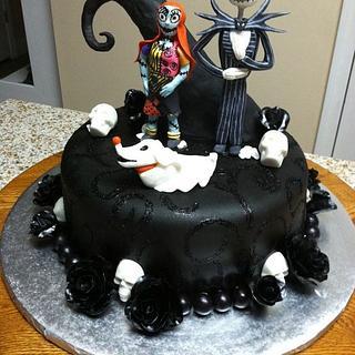 Nightmare Before Christmas Birthday Cake - Cake by Tetyana