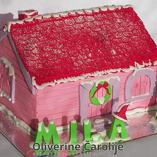 House Christmas Cake