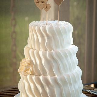 Rustic Wedding Ruffles. - Cake by Sweet Bakes