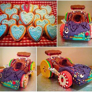 Wreck it ralph cake and cookies - Cake by EyeSeaDoughNuts