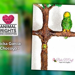 Chocoyo- Animals Right Collaboration  - Cake by BakeNCraft.com
