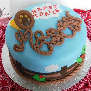 Happy Trails western theme - Cake by Cathy Moilan