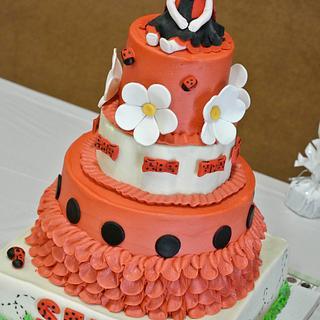Sela's ladybugs - Cake by Magda's cakes