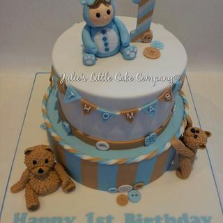 1st birthday cake for Thomas