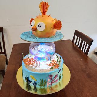 Aquarium theme cake - Cake by Varsha Bhargava
