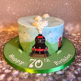 Surprising Steam Train Cake 18 Cakes Cakesdecor Personalised Birthday Cards Arneslily Jamesorg