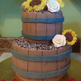 Catalina & Terance's Engagement Party Cake