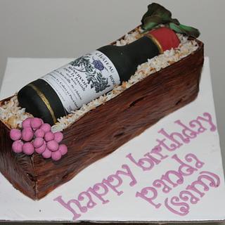 Wine gift box cake