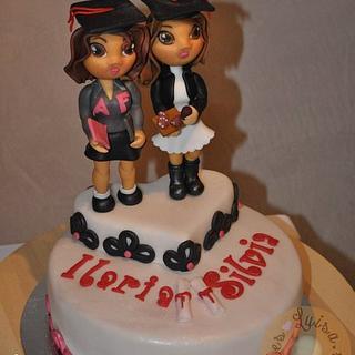 graduated girls cake