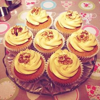 Coffee and Walnut Cupcakes.